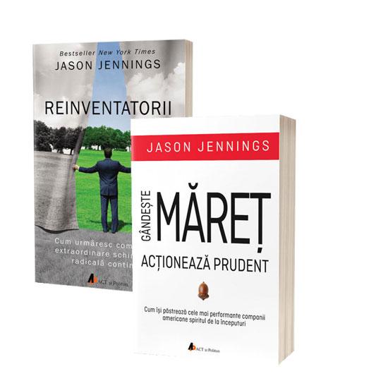 Pachet promoțional carte de business: Reinventatorii și Gândește MĂREȚ, acționează prudent de Jason Jennings