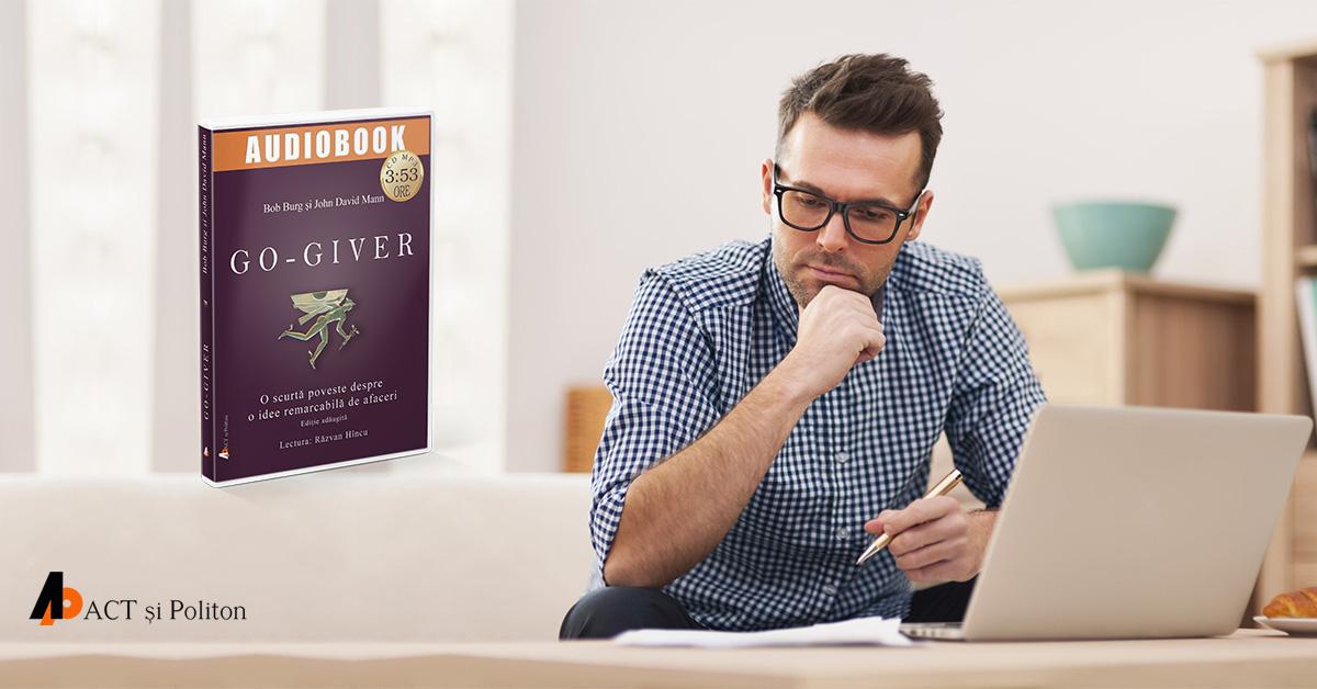 O carte audio care vorbește despre puterea și efectele generozității, atât în afaceri cât și în viața de zi cu zi