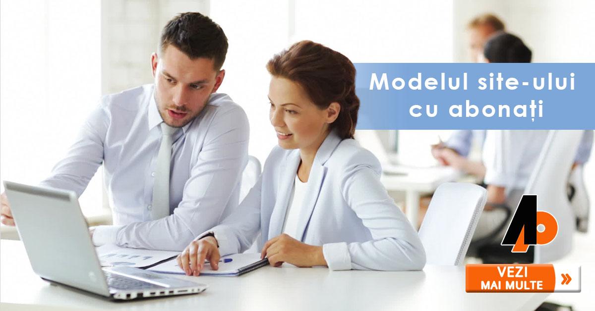 Modelul site-ului cu abonați