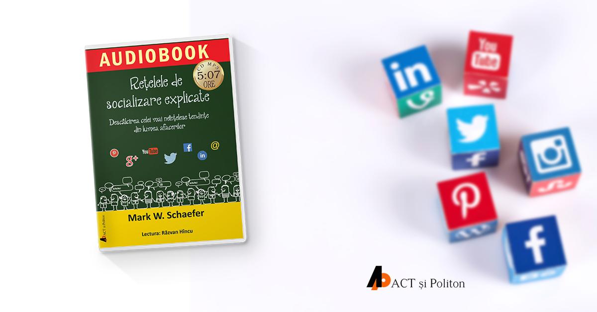 Social media și felul în care funcționează marketingul în rețelele de socializare explicate într-o carte audio