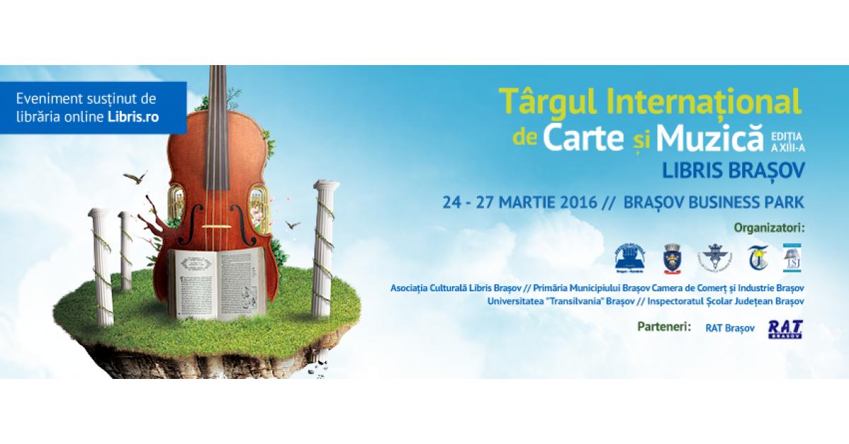 Ofertă specială, la un eveniment special: până la 42 % reducere la orice produs, numai în cadrul Târgului Internațional de Carte și Muzică, de la Brașov!