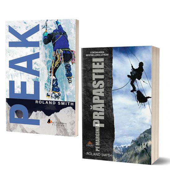 Pachet cărți Roland Smith: Peak și Pe marginea prăpastiei