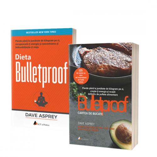 Pachet promoțional Dieta Bulletproof și Bulletproof.Cartea de bucate