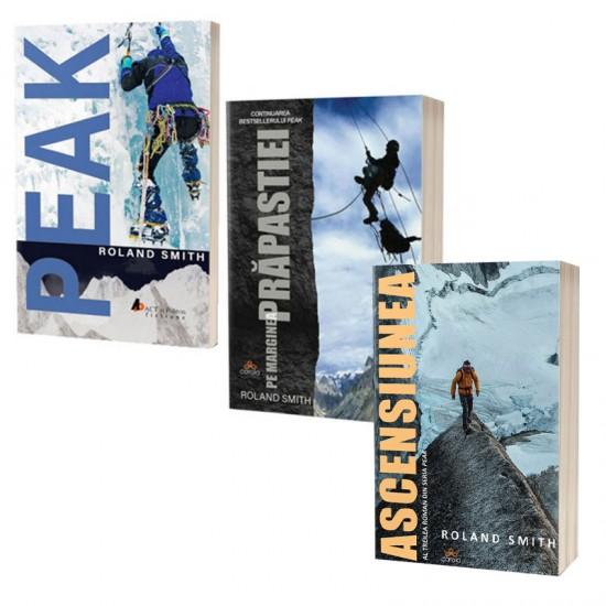 Pachet cărți Roland Smith: Ascensiunea, Peak și Pe marginea prăpastiei