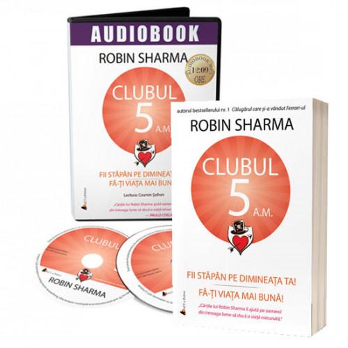 SUPER OFERTĂ: Pachet carte și audiobook Clubul 5 a.m