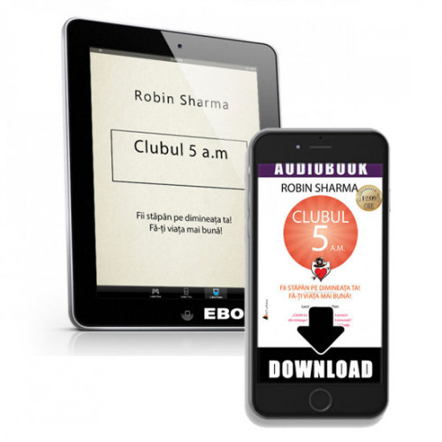 Pachet eBook și eAudio (MP3 download) Clubul 5 a.m