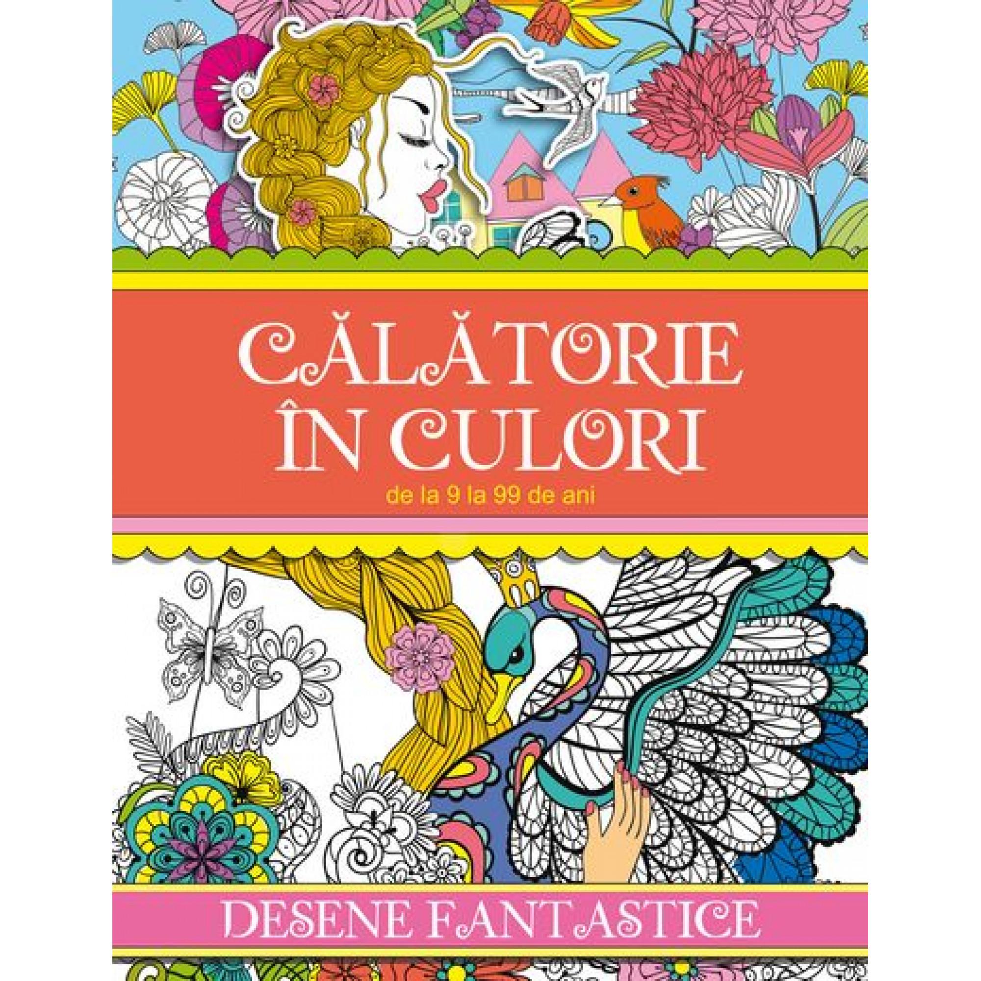 Călătorie în culori. Desene fantastice - Carte de colorat