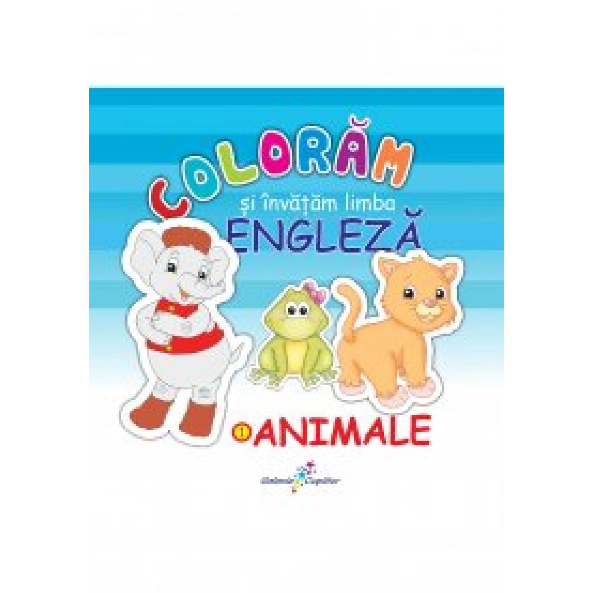 Colorăm și învățăm limba engleză. 1 - Animale