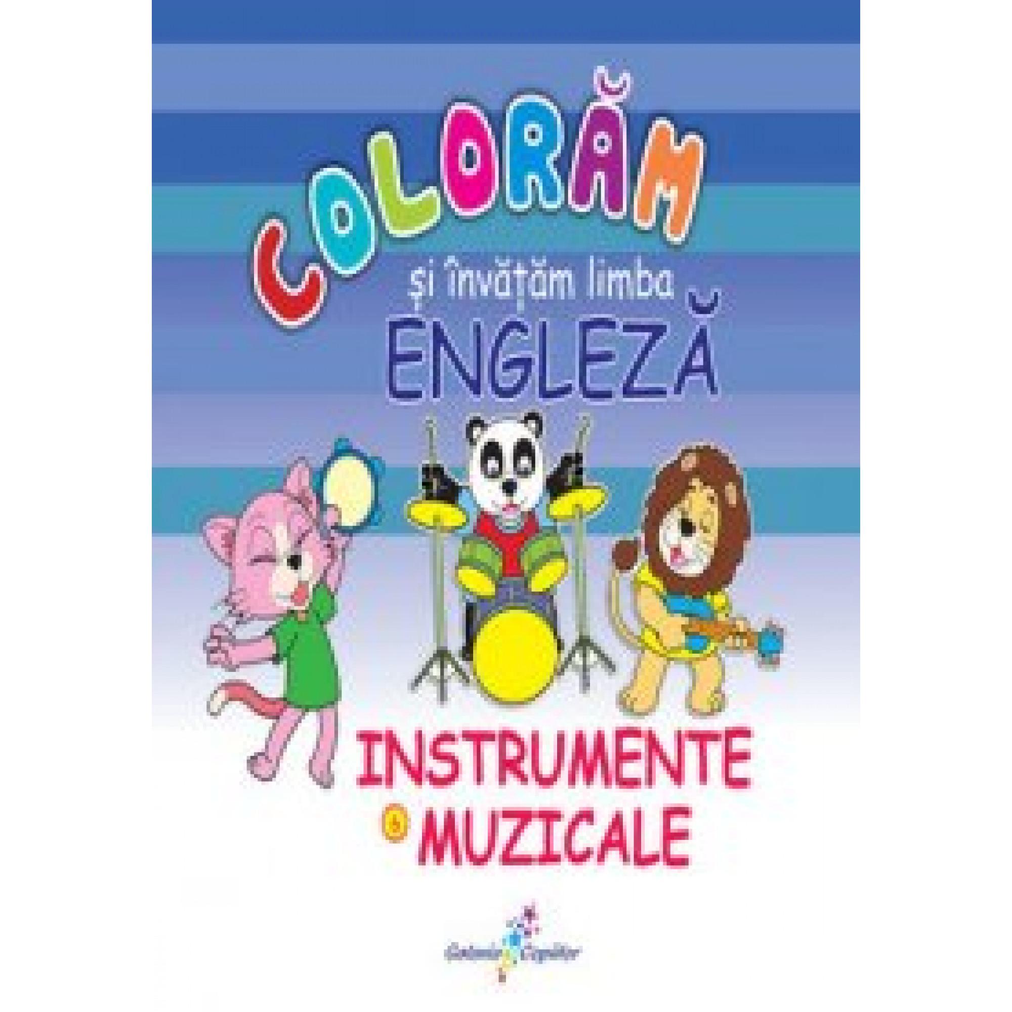 Colorăm și învățăm limba engleză. 6 - Instrumente muzicale
