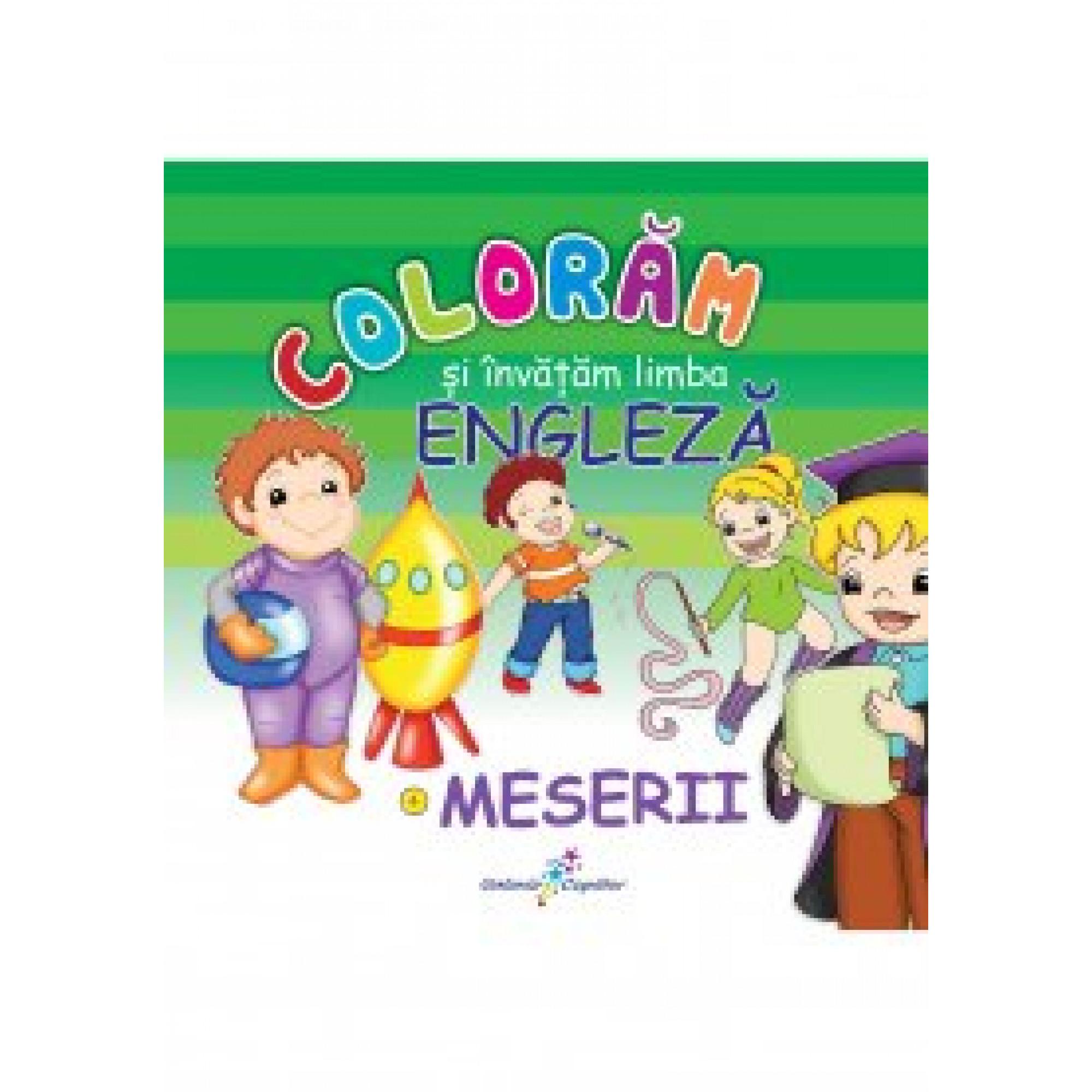 Colorăm și invatam limba engleză. 4 - Meserii