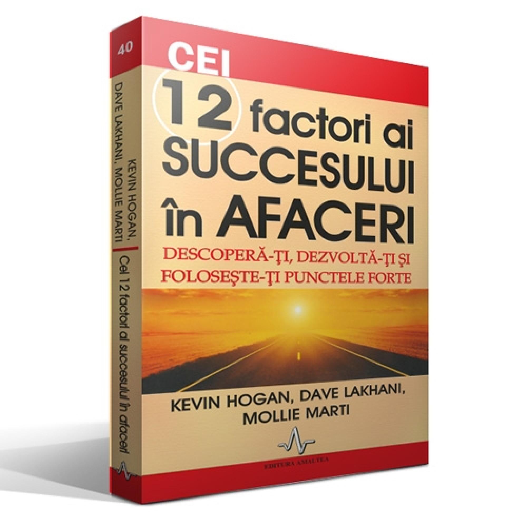Cei 12 factori ai succesului în afaceri. Descoperă-ți, dezvoltă-ți și folosește-ți punctele forte