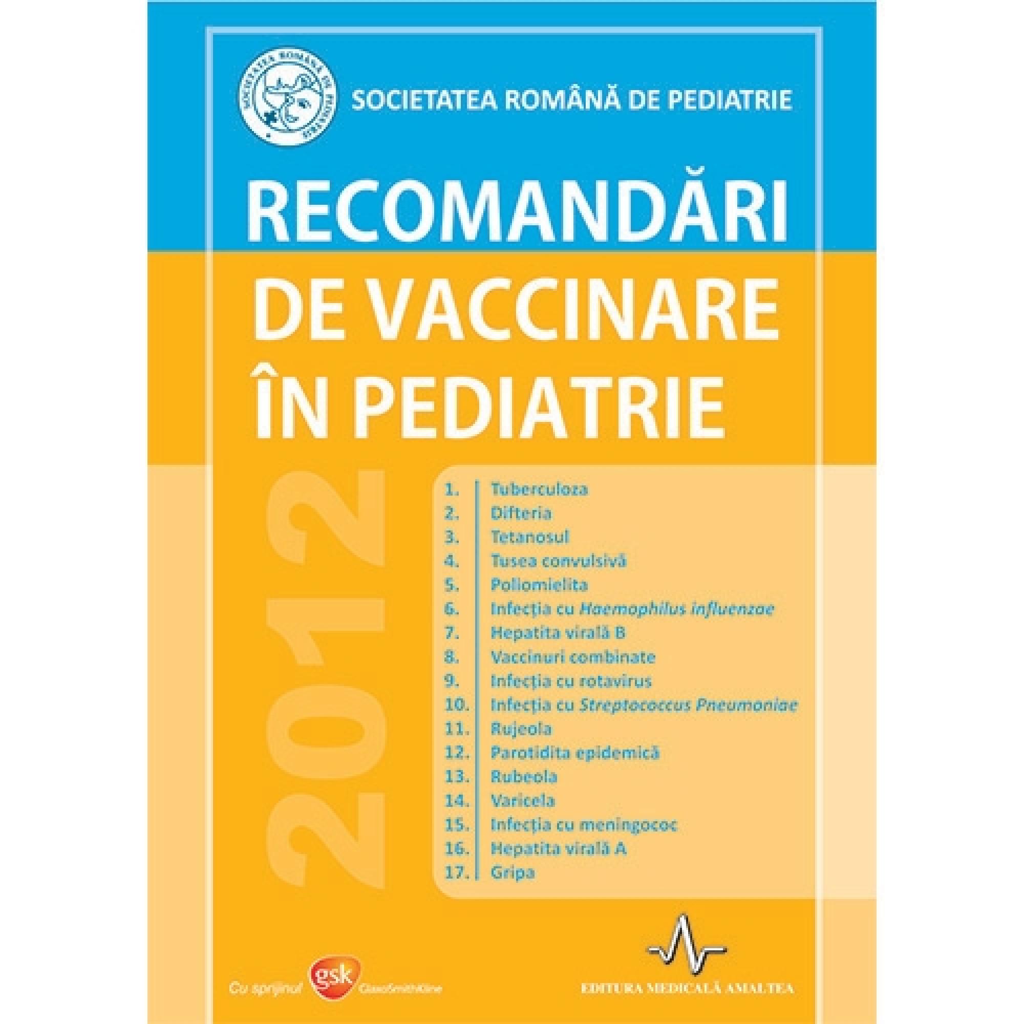Recomandări de vaccinare în pediatrie