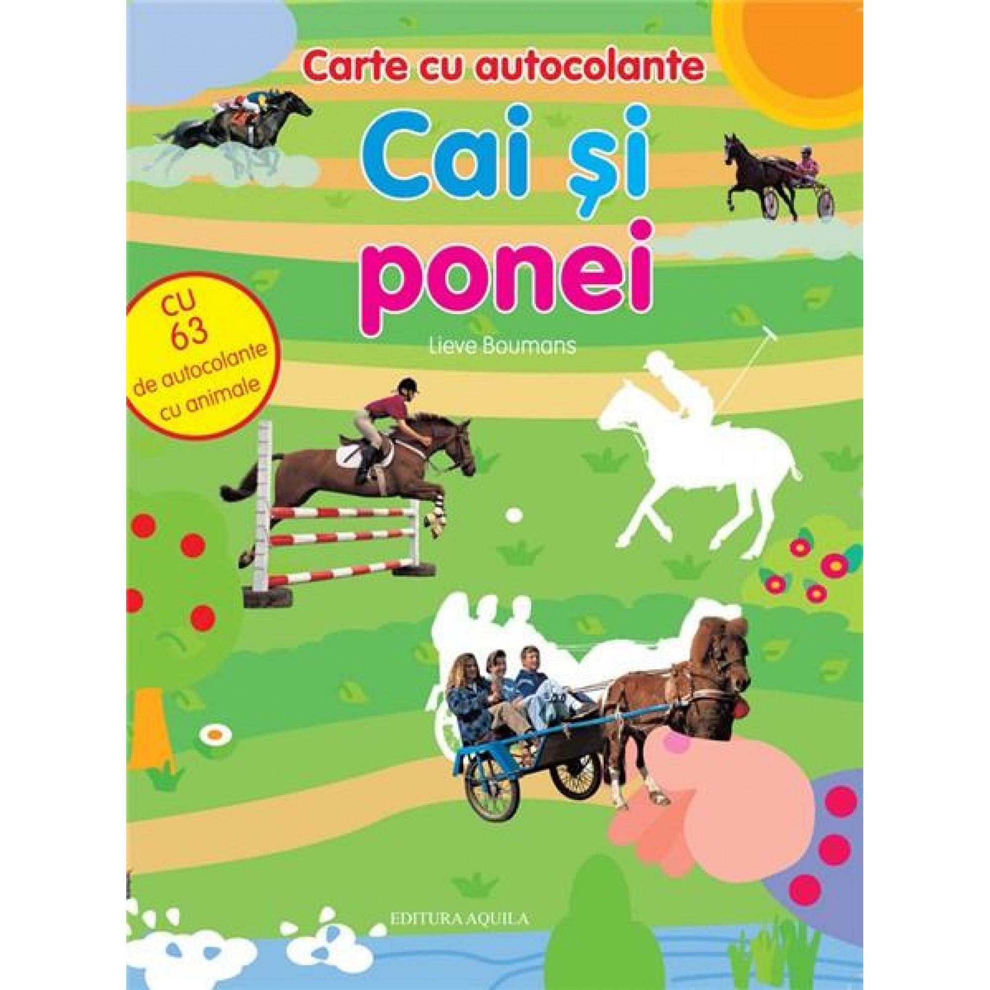 Carte cu autocolante. Cai și ponei