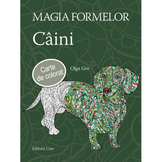 Magia formelor - Câini - Carte de colorat