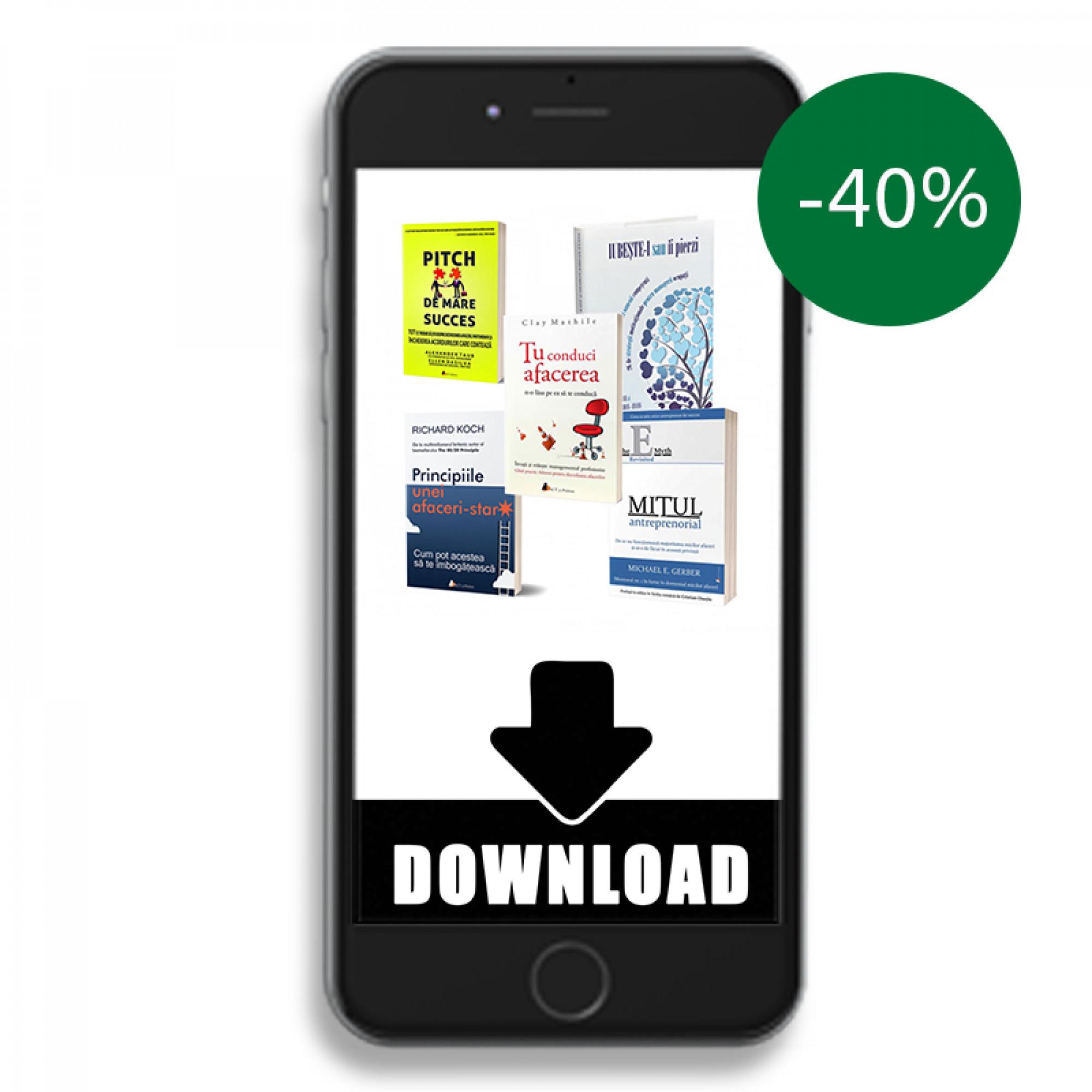 Pachet MP3 download (audiobook) afaceri