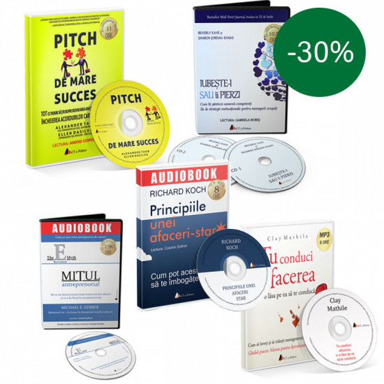 Pachet audiobookuri afaceri